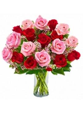 V05 Mixed Color Rose in Vase