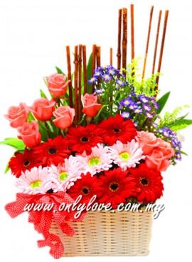 B08 Flower Basket