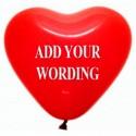 FB18 Heart Latex Balloon (Air Filled)