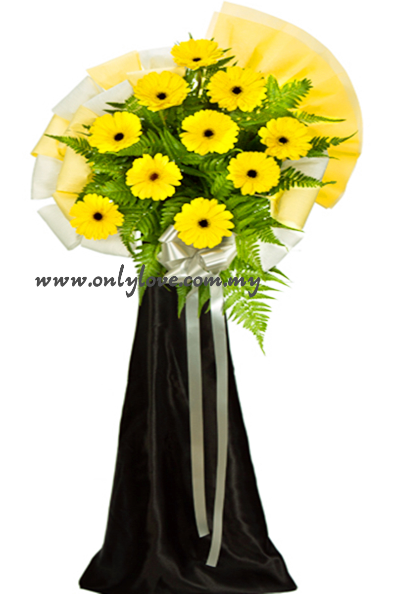 Deepest Condolence with Sympathy Flowers