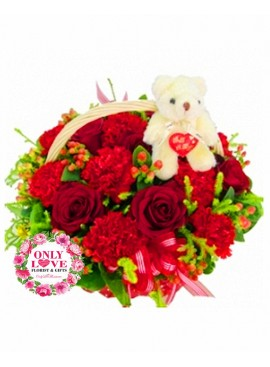 MD003 Carnation Basket