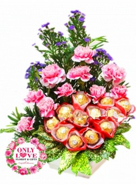 MD033 Carnation Basket