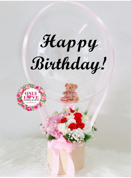 HAB02 Hot Air Balloon Bloom Box