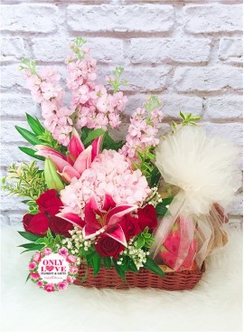 F17 Fruits & Flowers Basket