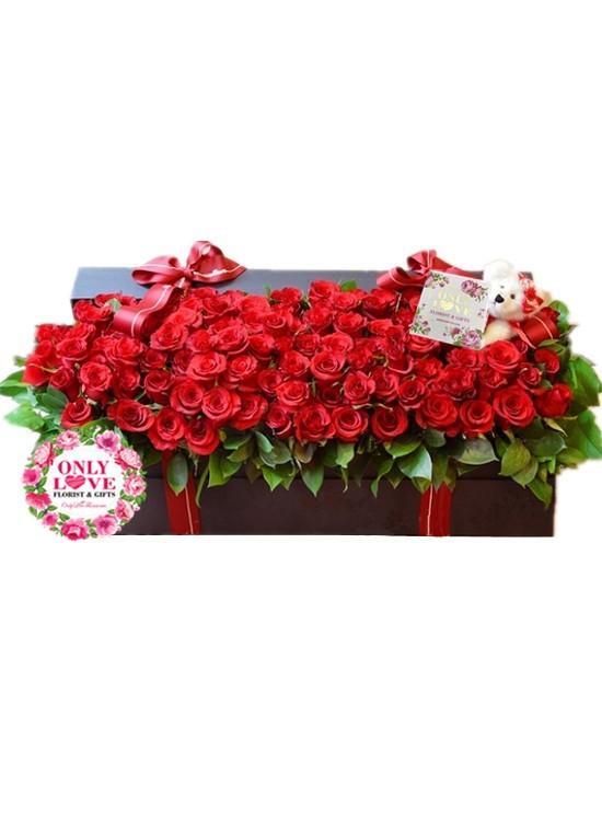 LB25 99 Rose Flower Box