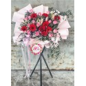 FS102 Opening Flower Wooden Stand