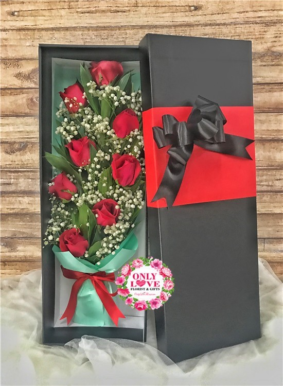 Lb26 Rose Flower Gift Box Sameday Flower Delivery To Malaysia Only