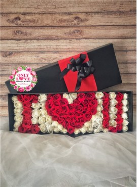 LB28 99 Rose Flower Box
