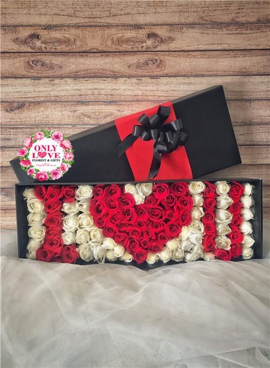 LB28 99 Rose Flower Box