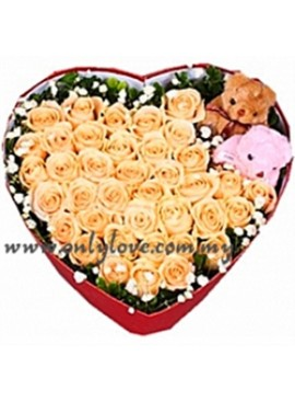 LB07 Rose Couple Teddy Gift Box