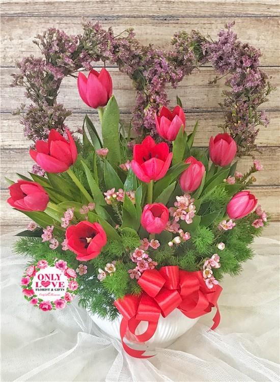 Imported Tulip in Vase