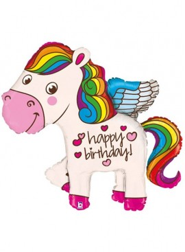 FB15 Happy Birthday Unicorn Balloon