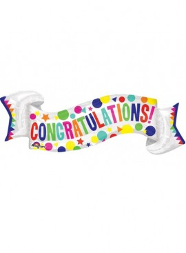 FB26 Congratulations Banner Supershape Balloon