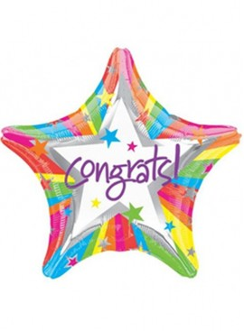 HB06 Congratulations Star Shaped Foil Balloon