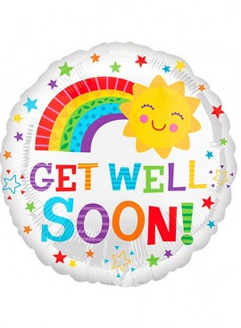 FB41 Get Well Soon Happy Sun Balloon