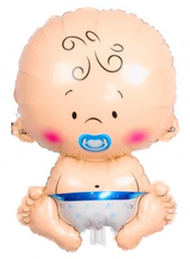 FB43 Cute Baby Boy Girl Foil Balloon
