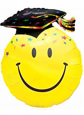 FB44 Graduation Smiley Balloon