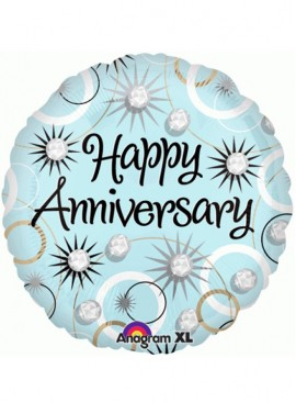 "FB12 9"" Anniversary Foil Balloon (Air Filled)"