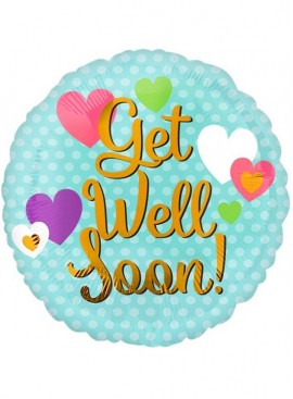 "FB01 9"" Get Well Soon Balloon (Air Filled)"