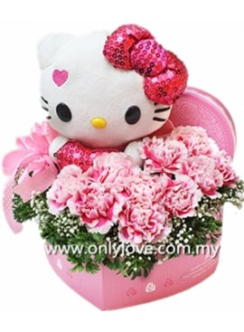 LB17 Hello Kitty Flower Gift Box