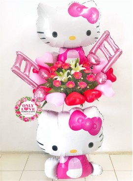 FS108 Hello Kitty Opening Flower Stand