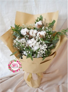 DF04 Cotton Baby Breath Bouquet