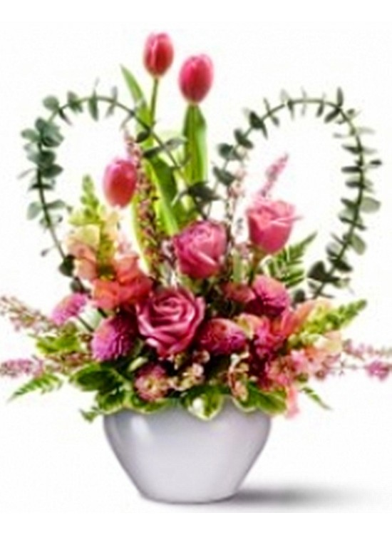 Tulip Rose in Vase