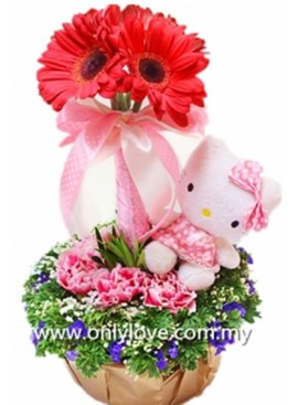 Hello Kitty Flower in Vase