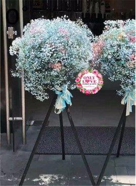 FS114 Opening Flower Wooden Stand