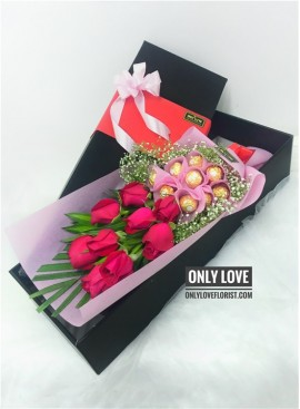 Roses Chocolate Long Gift Box