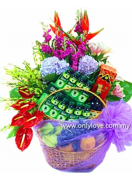 F16 Fruits & Flowers Basket