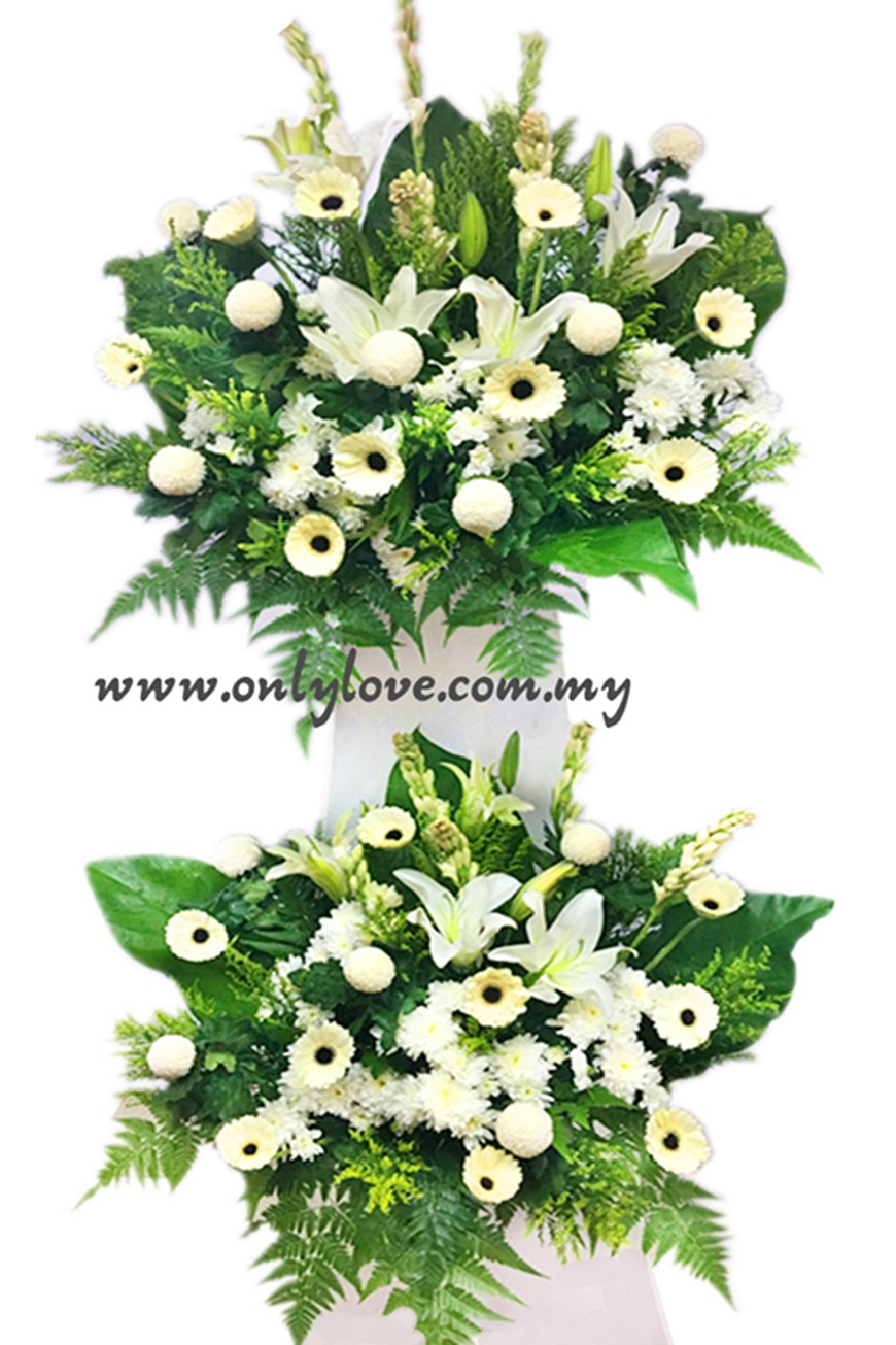 C11 Condolence Stand sameday flower delivery to Malaysia | Only Love ...
