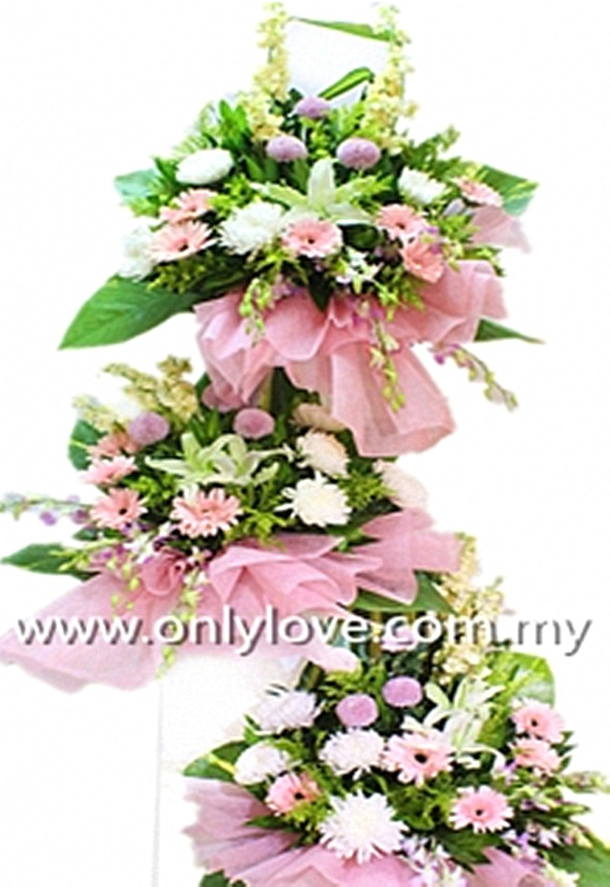 C25 Condolence Stand sameday flower delivery to Malaysia | Only Love ...