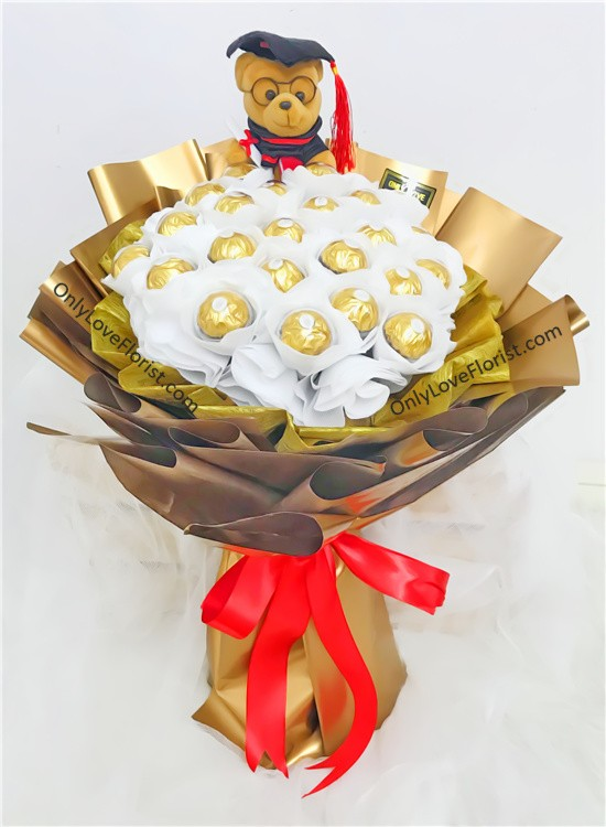 Gb12 Graduation Bouquet Sameday Flower Delivery To Malaysia Only Love Florist Amp Gifts