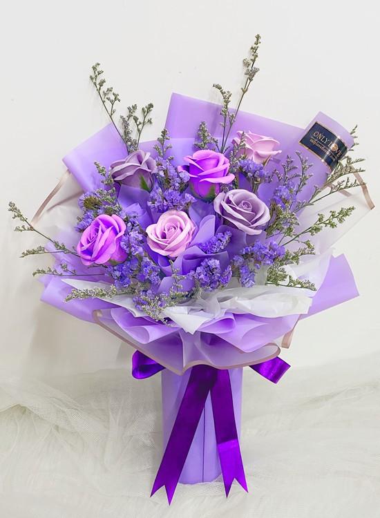 SF15 Purple Soap Dried Flowers Bouquet