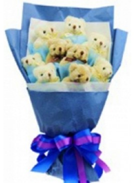 H01 Bear Hand Bouquet
