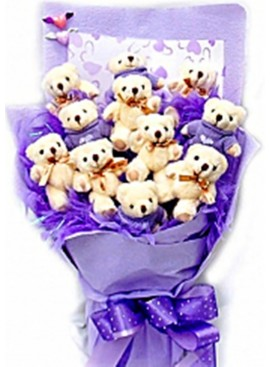 H09 Bear Hand Bouquet