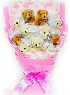 H14 Bear Hand Bouquet