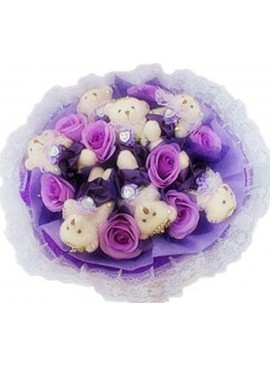H20 Bear Hand Bouquet