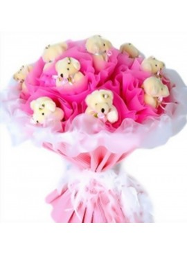 H21 Bear Hand Bouquet
