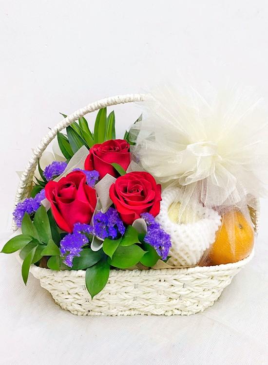 F23 Fruits & Flowers Basket