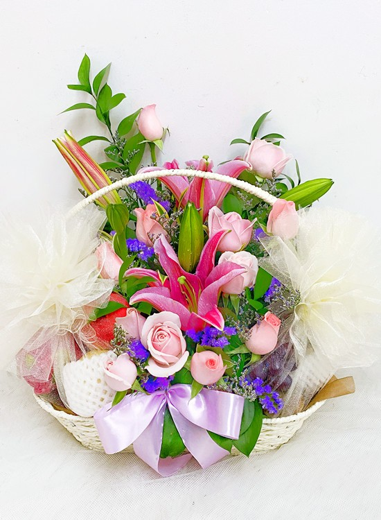 F10 Fruits & Flowers Basket