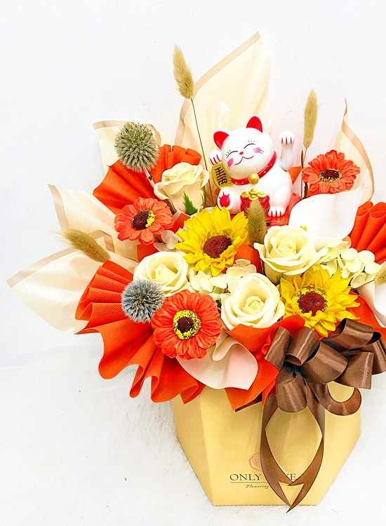 BB061 Opening Soap Flower Bloom Box