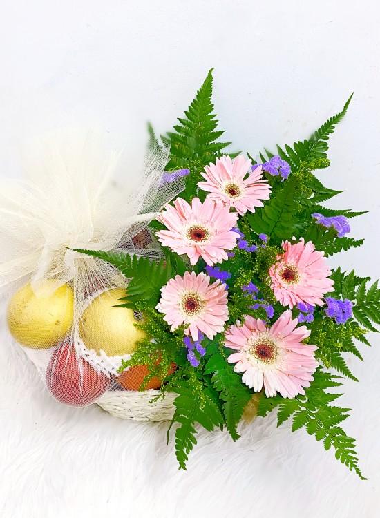 F01 Fruits & Flowers Basket