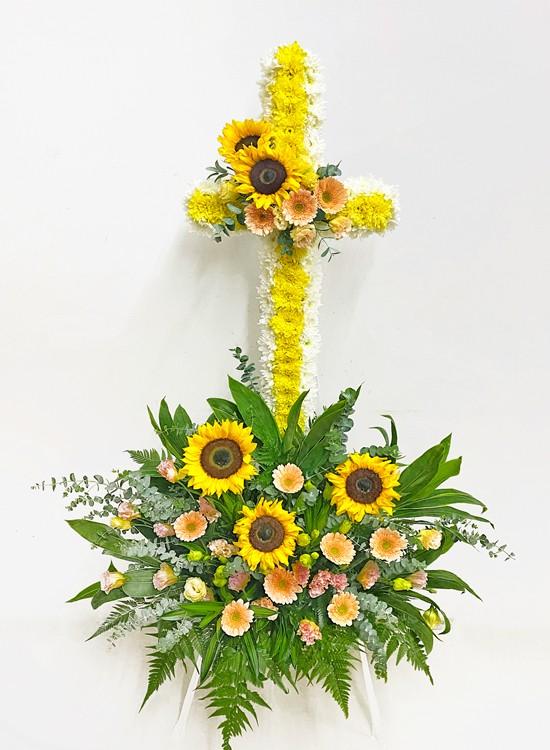 C99 Cross Condolence Flowers