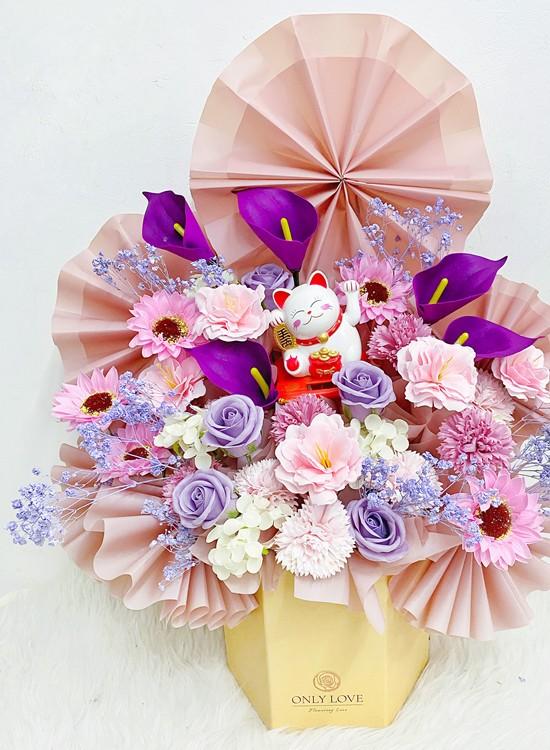 BB068 Opening Soap Flower Bloom Box