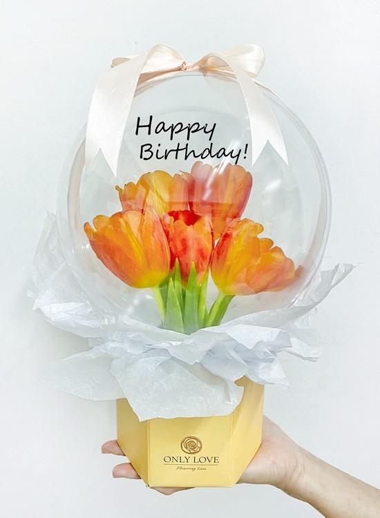 H33 Tulip Acrylic Balloon Bloom Box