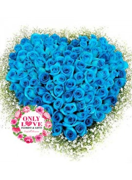 L37 99 Stalks Blue Rose Bouquet