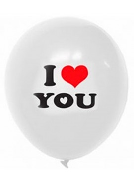 I Love You Latex Balloon (Air Filled)