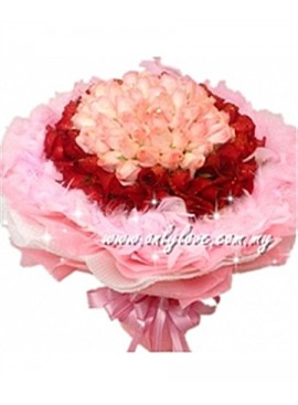 L54 99 Stalks Rose Bouquet